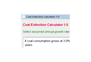 Coal Extinction Calculator