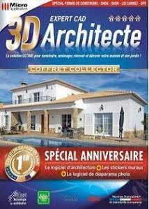 logiciel maison architecture 3d architecte expert cad sp cial anniversaire logiciel. Black Bedroom Furniture Sets. Home Design Ideas