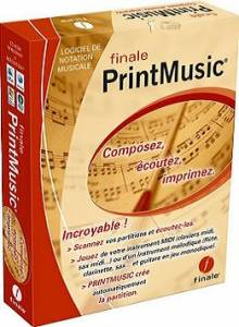 Logiciel notation musicale : Final PrintMusic Version 2010