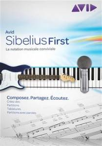 Logiciel partition musicale : Avid Sibelius First 6